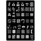 Şablon ştampilare nail art, cu modele gravate - 006, XL