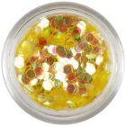 Confetti auriu în nuanţa mierii - hexagoane, elemente aqua