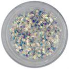 Decoraţiune în pulbere - hexagoane argintii, 1mm