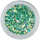 Hexagon verde-turcoaz, 1mm - efect holografic