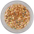 Hexagon in pulbere - auriu intens, 1mm