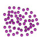 Decorațiuni unghii, culoare violet, 1,5mm - strasuri rotunde în săculeț, 90 buc
