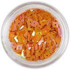 Pătrat portocaliu - decoraţiune nail art, cu gaură