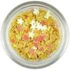 Confetti în formă de flori mici - galbene