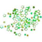 Paiete - contururi de stea, verde-hologramă
