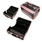 Geantă compartimentată pentru cosmetice - roz-negru
