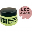 COVER PINK - gel camouflage LED - RICH BROWN PINK, 9g