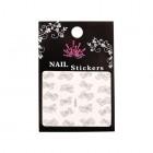 Stickere nail art 3D – flori argintii - YJ005