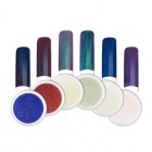 Pudră nail art - Set pudră colorată cu efect oglindă, nr.1