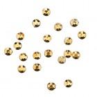 Decorațiuni nail art 1,5mm - strasuri rotunde într-un săculeț, galben-aurii, 20buc
