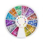 Decorațiuni nail art - strasuri rotunde 2 mm - diverse culori