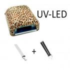 Lampă combinație LED-UV, animal print – 36W