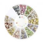 Decorațiuni nail art – strasuri diamante - mix