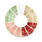 Decorațiuni nail art – strasuri 2mm – diverse culori cu efect AB