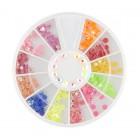 Decorațiuni nail art – strasuri 3mm – diverse culori cu efect AB