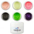 Set geluri UV perlate - Pearl – 6 buc.