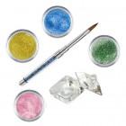 Set Shimmer I - Kit acrilic colorat de pudre acrilice pentru unghii