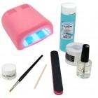 Set Basic gel UV - sistem monofazic cu lampă roz 36W