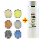 Set culori cu sclipici I. 6pcs + lichid acril 100ml GRATIS