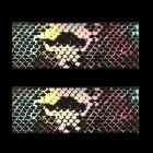 Folie decorativă pentru unghii - holografică cu motive de piele de șarpe