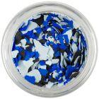 Confetti mare cu o formă nedefinită - albastru deschis, albastru, negru