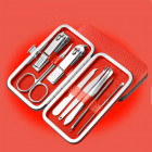 Set manichiură și pedichiură - roșu