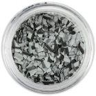 Fulgi de confetti cu o formă nedefinită - gri-negru cu dungi