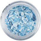 Fulgi de confetti cu o formă nedefinită - albastru deschis cu dungi
