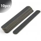 Pile unghii profesionale, negre, subțiri 100/180 - 10buc