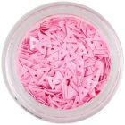 Triunghiuri decorative roz, cu gaură - nail art