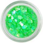 Inimi transparente, verde neon