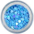Confetti nail art - inimi albastre