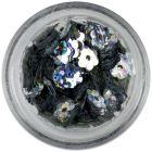 Flori argintii cu găuri - reflexii hologramă