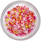 Confetti nail art din material textil - inimi roşii