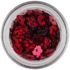 Flori nail art cu găuri - roşii