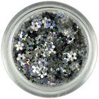 Flori cu gaură - argintii, hologramă