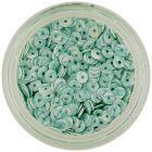 Decoraţiune pentru unghii - paiete în formă de disc, verde mentă cu dungi verzi