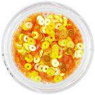Paiete rotunde în formă de disc, galben-portocaliu