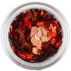 Flori nail art roşii-portocalii