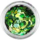 Confetti decorativ în formă de floare - verde, hologramă
