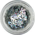 Decoraţiuni pentru unghii - iepuraş Playboy argintiu