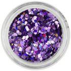 Hexagon violet deschis - efect holografic