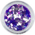 Elemente aqua în formă de hexagon, violet deschis