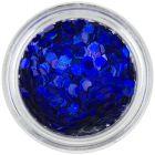 Confetti albastru închis - hexagoane