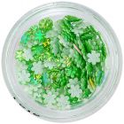 Flori 3D – verde perlat