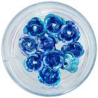 Trandafiri albaștri din ceramică, 10 buc