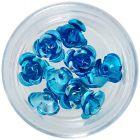 Ornamente pentru unghii, 10 buc – trandafiri turcoaz din ceramică