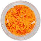 Decorațiuni pentru unghii - lacrimi din material portocaliu
