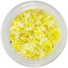 Decorații pentru unghii din material - fundițe galbene