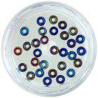 Cercuri goale pentru decorare unghii - amestec de culori închise